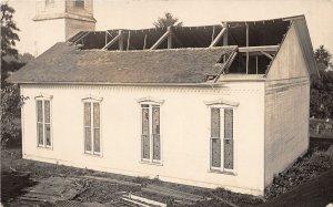 F39/ Hayesville Ohio RPPC Postcard Church Storm Disaster c1910 Ashland Co