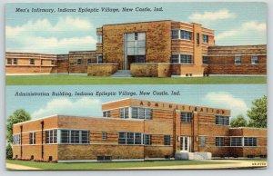 New Castle~Indiana Epileptic Village~Men's Infirmary~Admin~1940 Art Deco~Linen