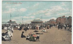 Flintshire; On The Sands, Rhyl PPC, By Valentine, 1906, To Mrs Crossford, Glos