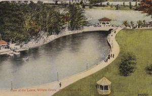 PHILADELPHIA, Pennsylvania, 1900-1910's; View Of The Lakes, Willow Grove