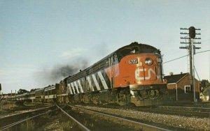 BROCKWELL , Ontario , 1955 ; Railroad Train