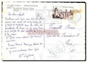 Modern Postcard The French Riviera Menton Garavan General view
