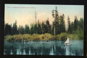 Willamette River, Oregon/OR Postcard, Boats On The River