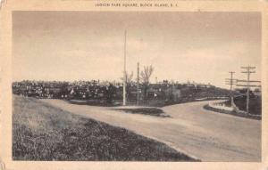 Block Island Rhode Island Legion Park Square Street Scene Postcard JD933871