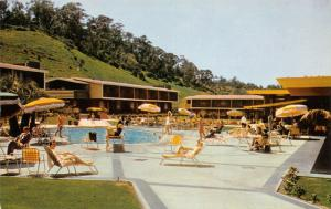 San Diego California~Mission Valley Inn~Guests Lounge by 2 Swimming Pools~1960s