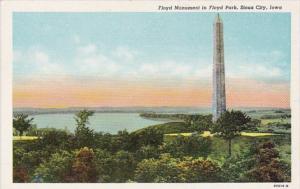 Iowa Sioux City The Floyd Monument In Floyd Park Curteich