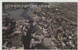 Kennebunkport ME Maine aerial view Postcard