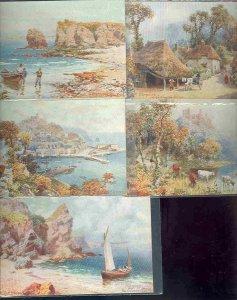 pc746 postcard UK Torquay Tuck Oilette MOBSC FIVE