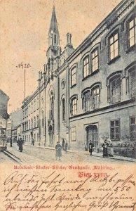 WIEN VIENNA AUSTRIA~URSULINER-KLOISTER-KIRCHE-WAHRING~1899 PHOTO POSTCARD