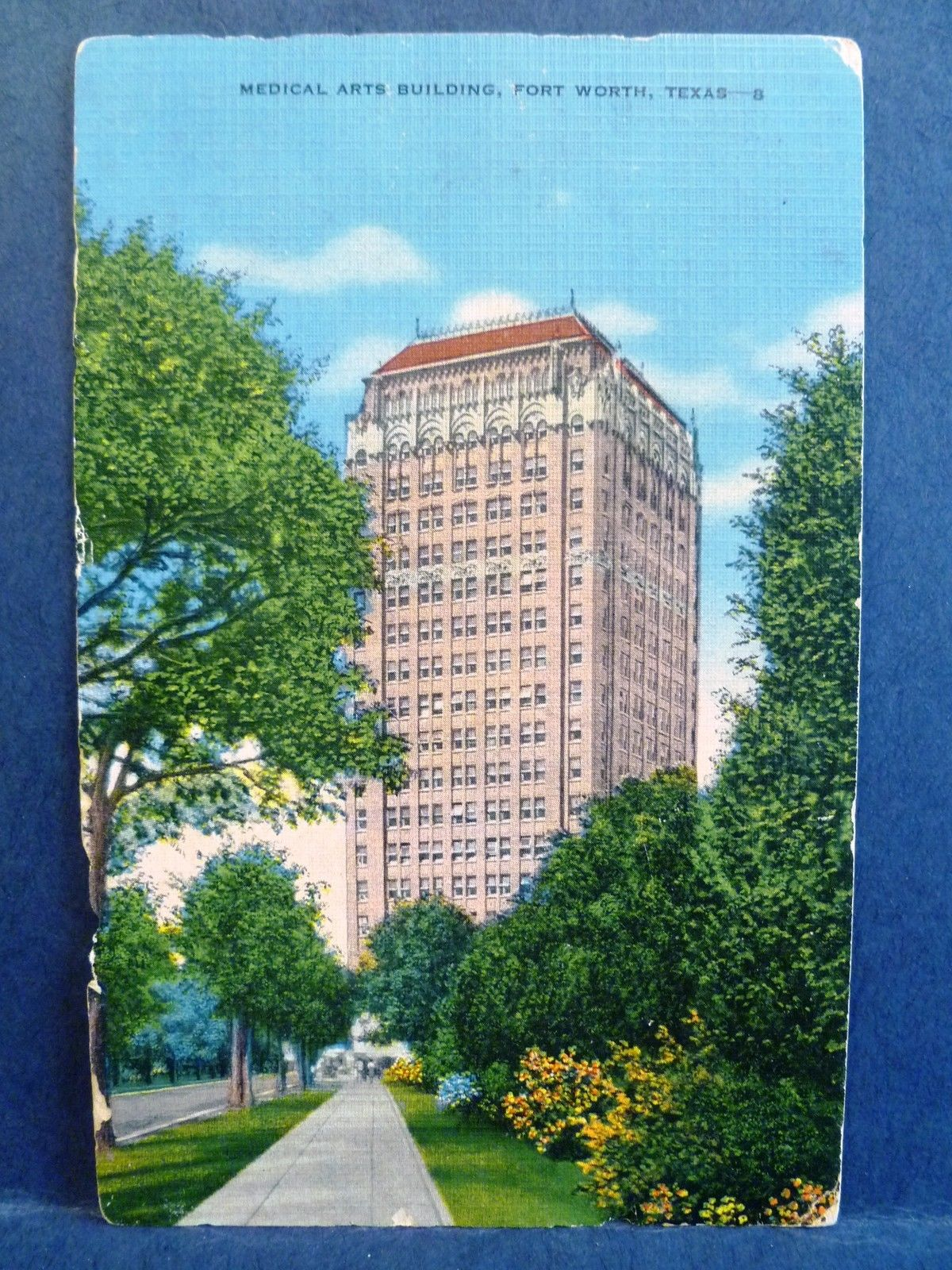 Postcard tx fort worth medical arts building hippostcard for Build on your lot east texas
