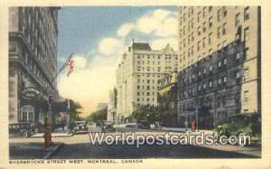 Montreal Canada, du Canada Sherbrooke Street West  Sherbrooke Street West