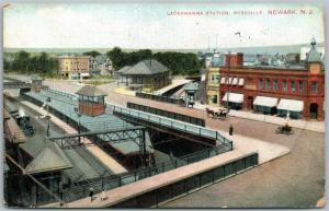 NEWARK NJ LACKAWANNA STATION ROSEVILLE 1908 ANTIQUE POSTCARD railroad railway