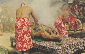 HONOLULU, Hawaii, 1970; Luau Pig