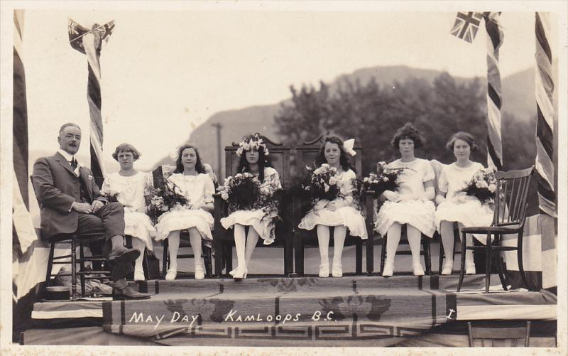 RP: May Day , Court &  May Queen Sitting , KAMLOOPS , B.C. , Canada , 1923 ; #2