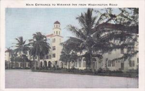 Florida Washington Road Main Entrance To Miramar Inn From Washington Road