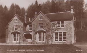 Glenspean Lodge Hotel Roy Bridge Inverness Rare Real Photo Postcard