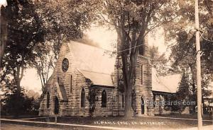 St Paul's Episcopal Church Waterloo NY Postal Used Unknown