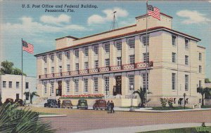 Florida Pensacola Post Office and Federal Building Curteich 1944