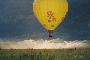 Balloon Festival , Teton Valley Fair , DRIGGS , Idaho , 1994 #5 ; Yellow Balloon