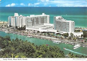 Florida Luxury Hotels Miami Beach, Fontainebleau aerial view Atlantic Ocean 1968