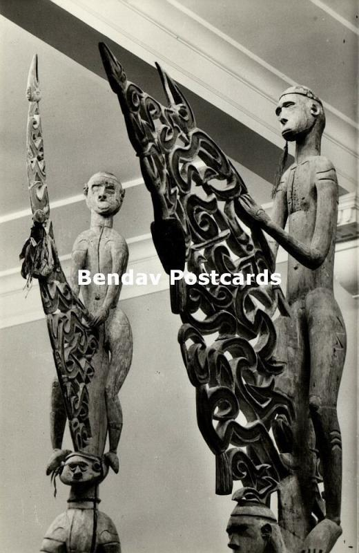 dutch new guinea, Bisj Pole of the Native Mbiwar Asmat Papuas (1950s) RPPC