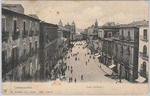 CARTOLINA d'Epoca - CALTANISETTA Citta' : CORSO UMBERTO