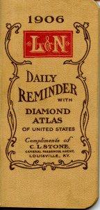 Advertising Calendar Booklet- Louisville & Nashville Railroad, 1906. (5.625 ...