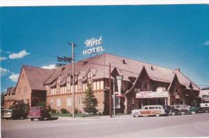 JACKSON , Wyoming, 1950-60s ; Wort Hotel, Street View