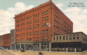 Salt Lake City Utah~The Wilson Hotel~1910 Postcard