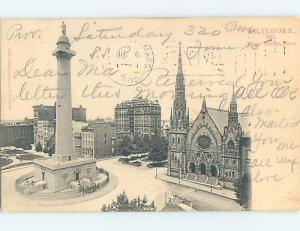 Pre-1907 POSTCARD SCENE Baltimore Maryland MD hp9098