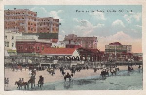 ATLANTIC CITY, New Jersey, PU-1924; Ponies On The Beach