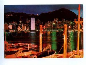 179683 View from Ocean terminal Hong Kong old postcard