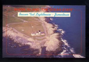 Jamestown, Rhode Island/RI Postcard, Aerial Of Beavertail Point Lighthouse/Light