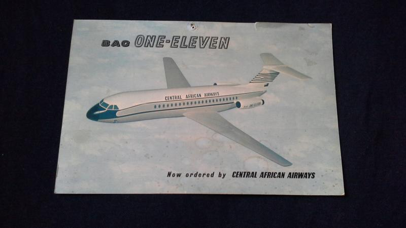 Photocard Infocard Postcard BAC One Eleven now Ordered By Central African Airway
