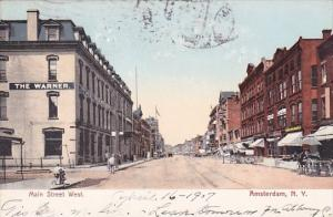 New York Amsterdam Main Street Looking West 1907