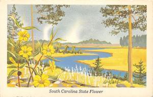 South Carolina State Flower~Yellow Jessamine~Artist Ken Haag Series 1968