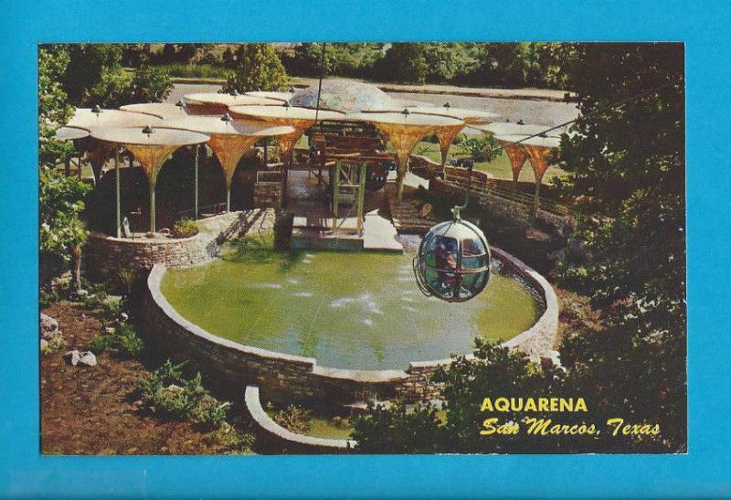 Postcard Aquarena Springs Motor Hotel Launcing Pad San Marcos Texas 740