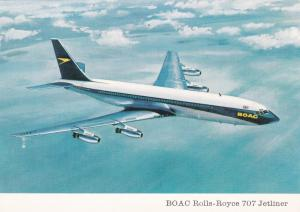 BOAC Rolls-Royce 707 Jetliner airplane , 60s
