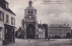MONTREUIL SUR MER, Pas De Calais, France, 1900-1910s; L'Eglise Saint-Saulve E...