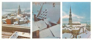 Postcard Riga Latvia Old riga winter