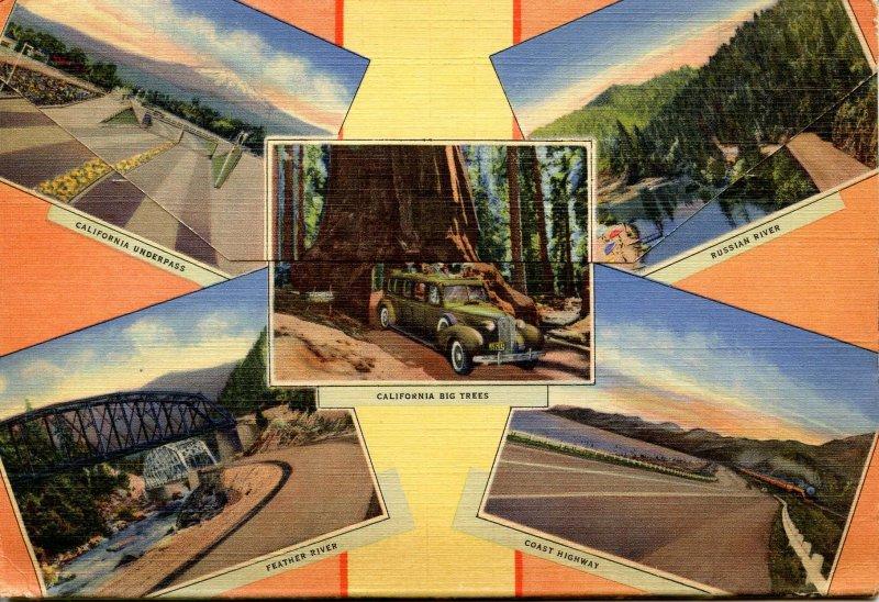 Folder - California. California Highways      18 views + narrative