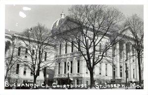 LPSS66 St. Joseph Missouri Buchanon County Court House Postcard RPPC