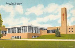 Ottumwa Iowa Sunnyslope Sanatorium Street View Vintage Postcard K50024