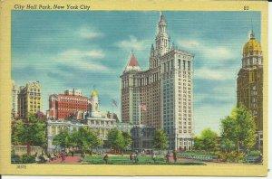 New York City, City Hall Park