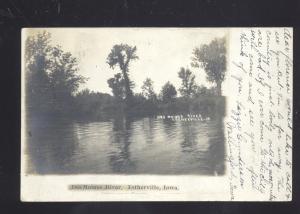 ESTHERVILLE IOWA DES MOINES RIVER ANTIQUE VINTAGE POSTCARD 1906