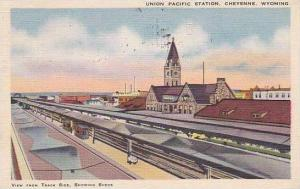 Wyoming Cheyenne Union Pacific Station 1943