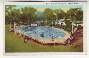 P588 JLs 1954 linen forest park swimming pool ottowa kanas