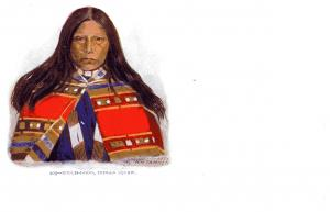 #209, Touch-I-Goo, Indian Squaw Undivided Back, pre-1907