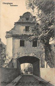 Poland Oberglogau Głogówek Castle Gate 1915 Postcard