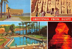 Egypt Port Said Governemental building The river Nile in Asswan The Sphinx